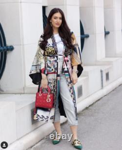 Bnwt Zara Limited Edition Multicoloured Patchwork Print Long Kimono Size S