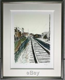 Bob Dylan Art Train Tracks, 2008 (white)