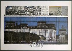 CHRISTO + JEANNE-CLAUDE HAND SIGNIERT Wrapped Reichstag auf Bütten 1994