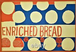 CORITA KENT Vintage Poster ENRICHED BREAD Signed Sister Mary Corita IHM