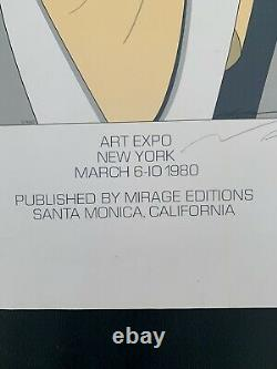 California Artist Patrick Nagel Signed 1980 Art Expo Exhibition Serigraph Print
