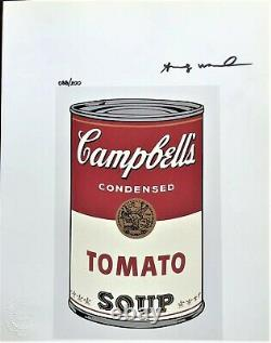 Campbell Soup by Andy Warhol Original Hand Signed Print with COA