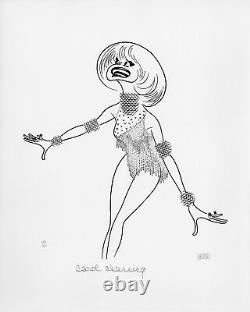 Carol Channing SALE! DOUBLE-SIGNED Limited Edition Lithograph by Al Hirschfeld