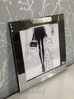 Chanel Shopping in Paris Unique Silver Mirror Frame 60cm Picture Wall Art Gift