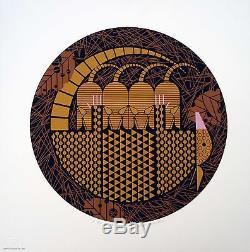 Charles/Charley Harper Armaditto SIGNED Ltd Ed #190/ 1500 armadillo art