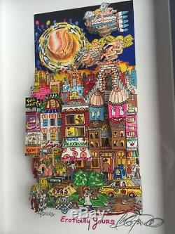 Charles Fazzino Original 3D EROTICALLY YOURS, signiert, DELUXE + Rizzi Karte