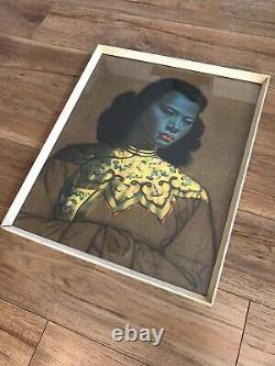 Chinese Girl By Vladimir Tretchikoff In Original Vintage Frame Early Print