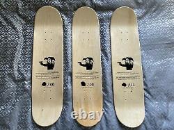 Clown Skateboards'Banksy Test Press Series' 3 Limited Edition Skateboard Decks