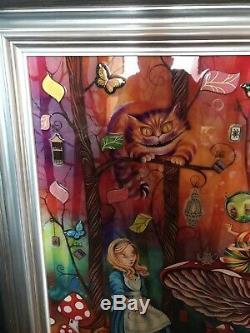 Collectible Kerry Darlington Alice in Wonderland Alice Meets The Caterpillar