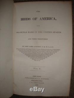 Complete 7 Volume J. J. Audubon Birds Of America 1st Ed Set 1840-All 500 Plates