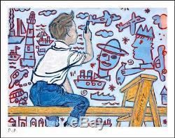 DAVID BROMLEY Young Artist Printers Proof Silkscreen PP 24cm x 30cm
