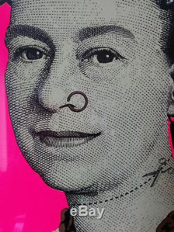 DFACE MORE PUNK THAN YOU PUNK PINK. Hand Signed in Pencil Banksy stable No RES