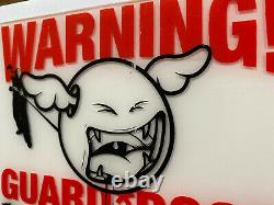 DFace Perspex Plaque Sign Warning Guard Dogs Operating In This Area Street Art