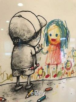 DRAN I Love You Art Print Framed RARE 20/50 Graffiti not banksy pejac