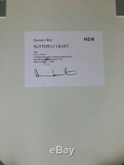 Damien Hirst LARGE Butterfly Heart Heni H7 3 Signed IN HAND