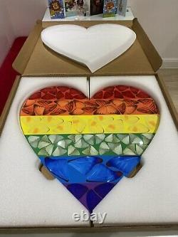 Damien Hirst Large Butterfly Rainbow Heart Heni Numbered and Signed