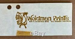 David Weidman Bridge II Original Mid-Century Modern Signed Serigraph
