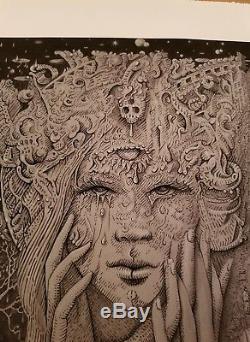David Welker Divine Sorrow Art Print S/N #/90 Giclee MINT Maze NO RESERVE