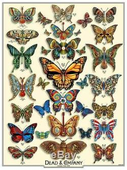 Dead and Company Summer Tour 2019 Butterflies Artist Edition of 200 S/N