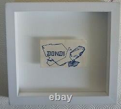 Dondi White original printed business card framed, Style wars, Graffiti, Seen