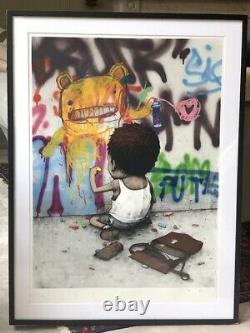 Dran AKA French Banksy I Have Chalks, hand-finished print 84/100. Framed