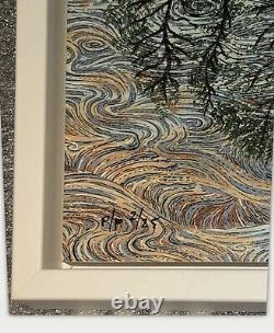 EMEK Guitar Island Art Print on Wood Panel 10,000 Lakes Festival LIMITED PP 2/25