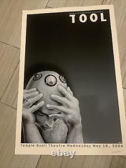 EMEK rare Signed TOOL Silkscreen Concert Poster Art 2006