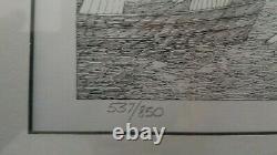 Edward Gorey Limited Edition Print Summer Pier #537/850 Hand Signed, Framed