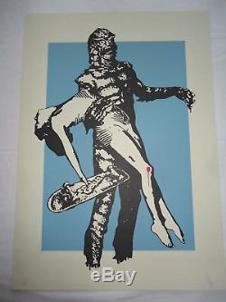 Eelus A/P print signed RARE! (free Banksy, Invader, Dolk stkr)