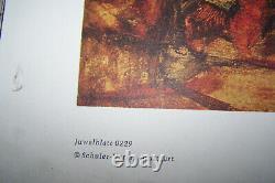 Egon Schiele Waldandacht 1915 Schuler Verlag Lithographie 1968 Kunstdruck vintag