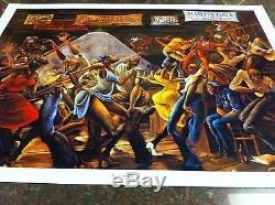 Ernie Barnes Sugar Shack African American Art Off Set