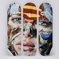 Extremly Rare Sandra Chevrier SkateBoard Triptychs S/N Ltd Ed