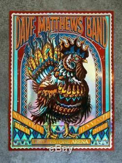 F4D Bioworkz DMB Nashville Rainbow Foil Poster RARE 1/50 Dave Bridgestone