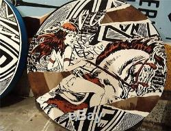 FAILE WARRIORS PALETTE 2008 Acrylic and Silkscreen Ink on Wood SIGNED