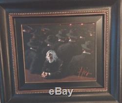 Fabian Perez'Untitled II' original oil on canvas, 14x18 Blue Dot Fine Art
