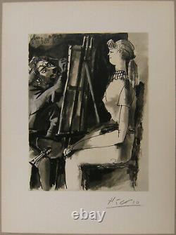 Farblithografie von Picasso. Das Blatt ist handsigniert