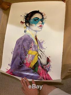 Fin Dac Jibo White Fine Art Poster Print NM