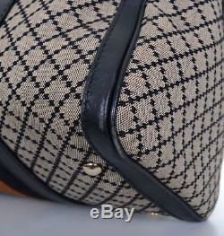 GUCCI Web Boston Doctor Diamond Print Limited Edition Satchel Shoulder Bag Purse