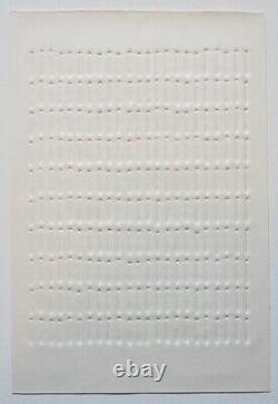 GÜNTHER UECKER Reihung, orig. Prägedruck, 1971, signiert, nummeriert 41/100