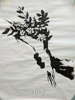 Gross Domestic Product Banksy Flower Thrower Limited Edition Screen Print POW