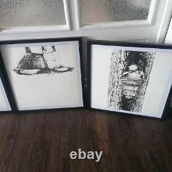 Günther Uecker 4 Lithografien alle handsigniert und nummeriert gerahmt