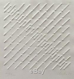 Günther Uecker Nagelreihung Prägedruck, 1974, handsigniert, nummeriert