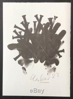 Günther Uecker Offsetdruck 1987 signiert und datiert