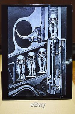 H. R. Giger The Birth Machine Enamelled Plate 23 Limited Edition 1995 Brussels