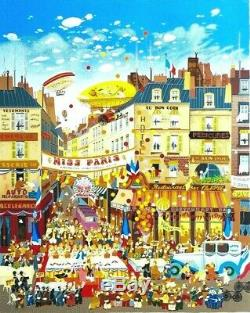 HIRO YAMAGATA MISS PARIS Hand Signed Limited Edition Serigraph #ED /300 RARE