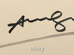 Hand signed Andy Warhol poster a Haring & Basquiat contemporary