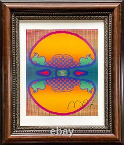 Hand signed signature PETER MAX 1960s psychedelic pop art