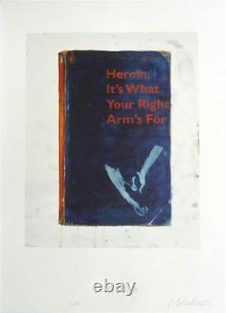 Harland Miller'Heroin, It's What Your Right Arm's For' Hand Signed TURPS Print