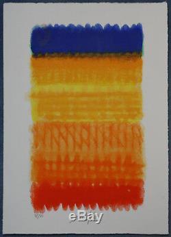 Heinz Mack ZERO Chromatik Rot Gelb Blau spitzen Farben tolles Meisterwerk Uecker