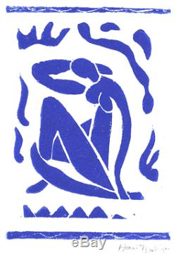 Henri Matisse Hand Signed Ltd Edition Print Blue Nude with COA (unframed)